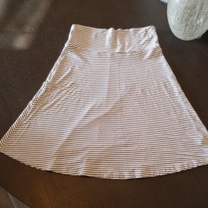 Gap Blue and White Striped Skirt